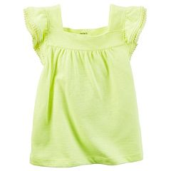 Girls 4-8 Carter's Pom Slubbed Tee