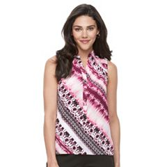 Petite Dana Buchman Smocked High-Low Tank