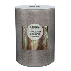 SONOMA Goods for Life™ Mahogany & Cedar 4' x 3' Pillar Candle
