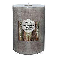 SONOMA Goods for Life™ Mahogany & Cedar 4' x 3' Pillar Candle