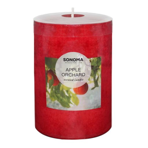 "SONOMA Goods for Life™ Apple Orchard 4"" x 3"" Pillar Candle"