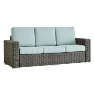 HomeVance Ravinia Charcoal Wicker Patio Sofa