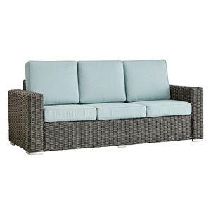 HomeVance Ravinia Charcoal Wicker Patio Sofa