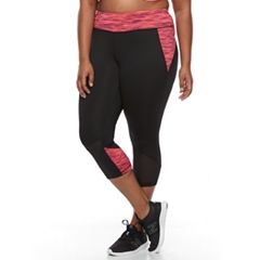 Plus Size Tek Gear® Tricot Mesh Performance Capri