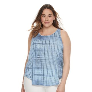 Plus Size SONOMA Goods for Life™ Lace-Up Back Tank