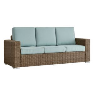 HomeVance Mocha Wicker Patio Sofa