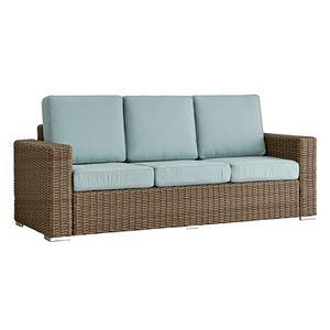 HomeVance Mocha Wicker Patio Sofa
