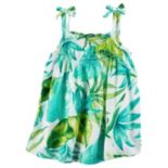 Girls 4-8 Carter's Print Smocked Tank Top