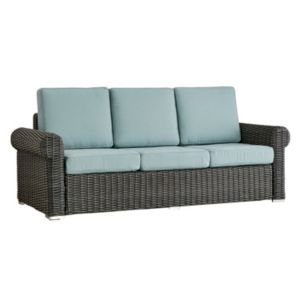 HomeVance Charcoal Wicker Patio Arm Sofa