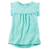 Baby Girl Carter's Lace Slubbed High-Low Hem Top