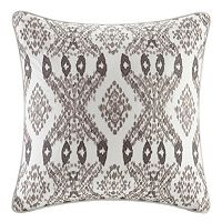 INK+IVY Clyde Embroidered Square Throw Pillow