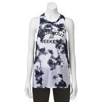 Juniors' SO® Tie Dye Knot Back Graphic Tank