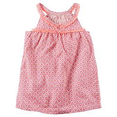 Girls 4-8 Carter's Print Fringe Tank Top