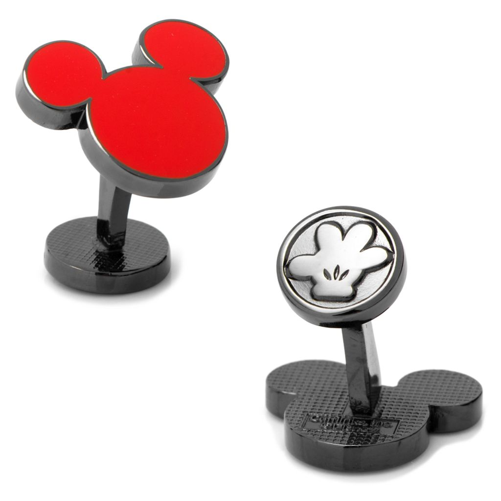 Disney Red Mickey Mouse Silhouette Cuff Links