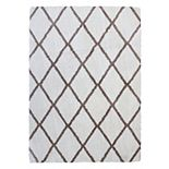 Gertmenian Micro Shaggy Luxury Grande Diamond Lattice Shag Rug