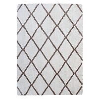 Gertmenian Micro Shaggy Luxury Grande Diamond Lattice Shag Rug - 5'3'' x 7'