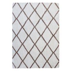 Gertmenian Micro Shaggy Luxury Grande Diamond Lattice Shag Rug