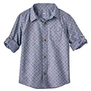 Boys 4-7x SONOMA Goods for Life™ Chambray Diamond Shirt