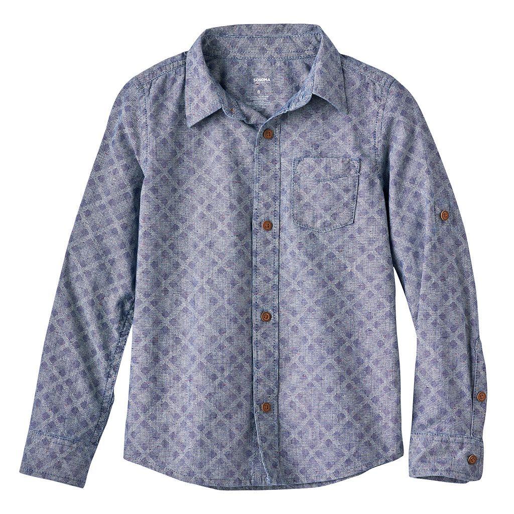 Boys 4-7x SONOMA Goods for Life™ Chambray Diamond Shirt