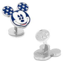 Disney Vintage Stars and Stripes Mickey Mouse Cuff Links