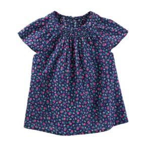 Toddler Girl OshKosh B'gosh® Smocked Floral Dobby Top