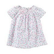 Toddler Girl OshKosh B'gosh® Smocked Floral Dobby Top