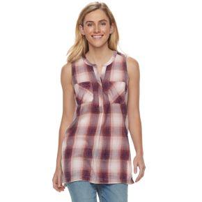 Women's SONOMA Goods for Life™ Plaid Sleeveless Tunic
