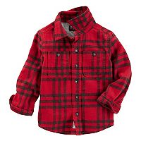 Toddler Boy OshKosh B'gosh® Flannel Plaid Shirt