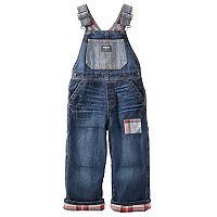 Toddler Boy OshKosh B'gosh® Flannel-Lined Overalls Denim Overalls