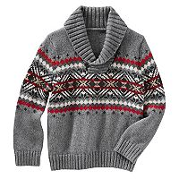 Toddler Boy OshKosh B'gosh® Fairisle Pullover Shawl Sweater