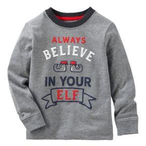 """Toddler Boy OshKosh B'gosh® """"Always Believe In Your Elf"""" Graphic Tee"""