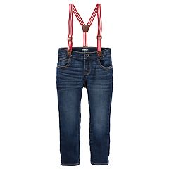 Toddler Boy OshKosh B'gosh® Striped Suspender Jeans
