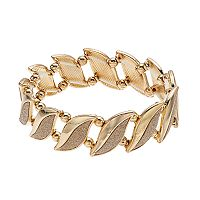 Glitter Leaf Stretch Bracelet