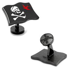 Disney Pirates of the Caribbean Jack Sparrow Flag Cuff Links