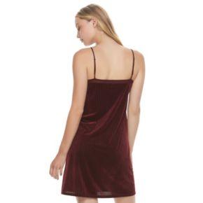 Juniors' Mudd® Velvet Slip Dress