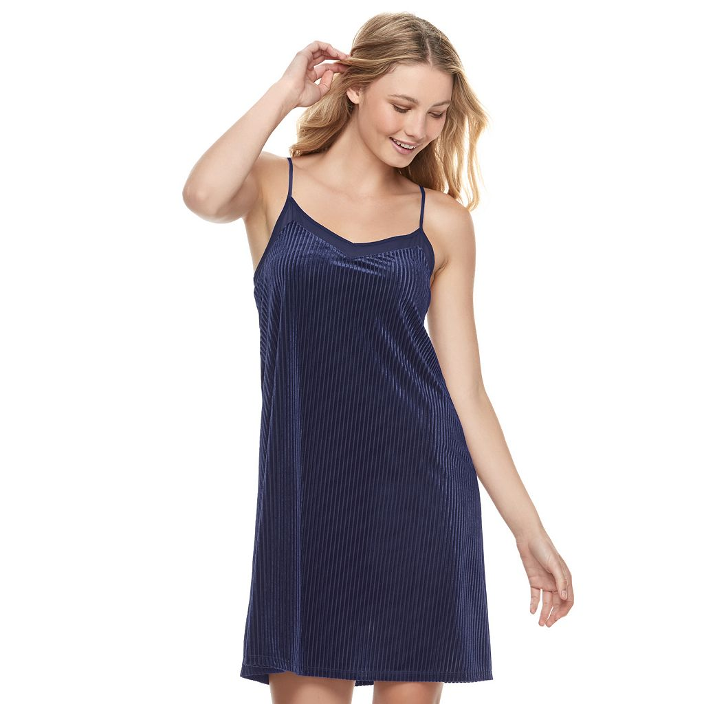 Juniors' Mudd® Velvet Slip Dress