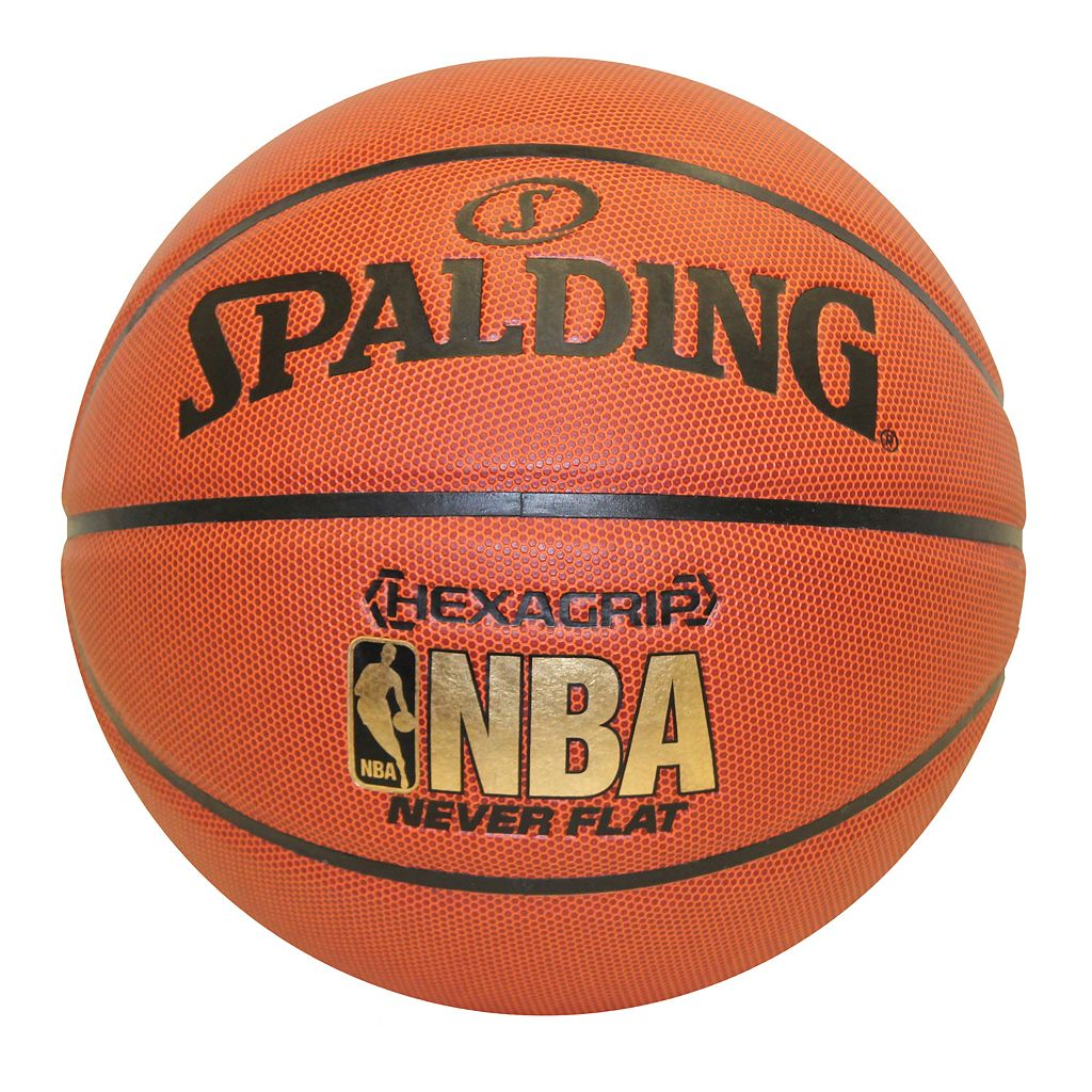Spalding NBA Neverflat Hexagrip 29.5-Inch Official Indoor/Outdoor Basketball