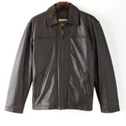 Excelled Straight Bottom Leather Jacket - Men