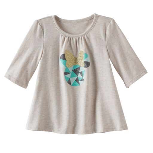 Disney's Minnie Mouse Toddler Girl Glittery Graphic Elbow-Sleeve Tee by Jumping Beans®