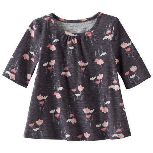 Toddler Girl Jumping Beans® Print Elbow-Sleeve Swing Tee