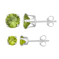 Journee Collection Sterling Silver Birthstone Cubic Zirconia Stud Earring Set
