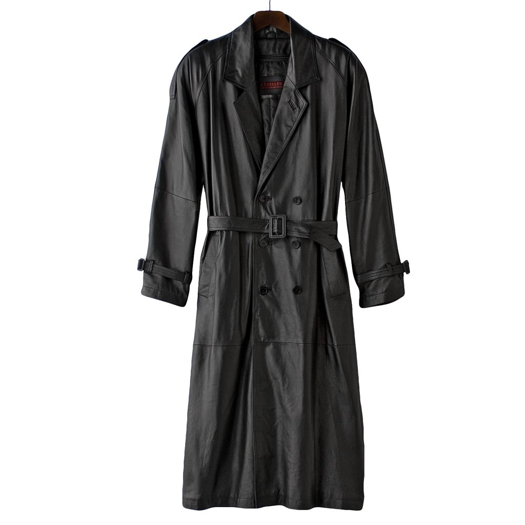 Men's Excelled Nappa Leather Trench Coat