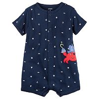 Baby Boy Carter's Print Applique Romper