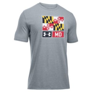 Men's Under Armour Scrimmage Lockup Maryland Flag Tee