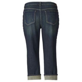 Women's Plus Size Simply Vera Vera Wang Cuffed Capri Jeans