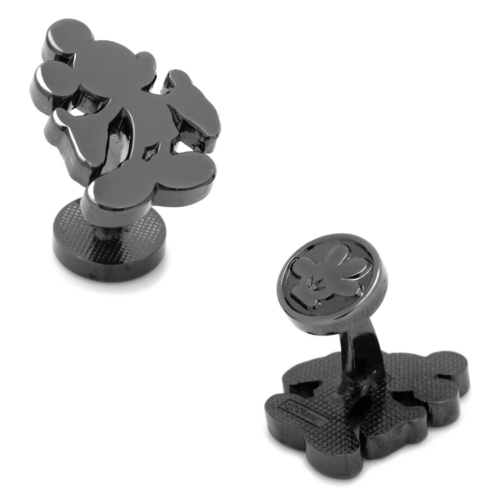 Disney Mickey Mouse Silhouette Black Cuff Links