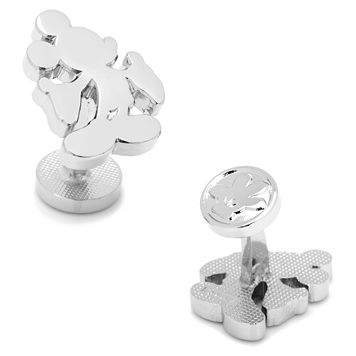 Disney Mickey Mouse Silhouette Silver-Tone Cuff Links