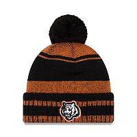 Adult New Era Cincinnati Bengals Glacial Pom Knit Hat