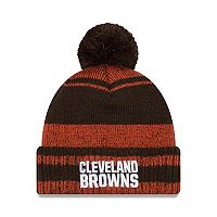 Adult New Era Cleveland Browns Glacial Pom Knit Hat