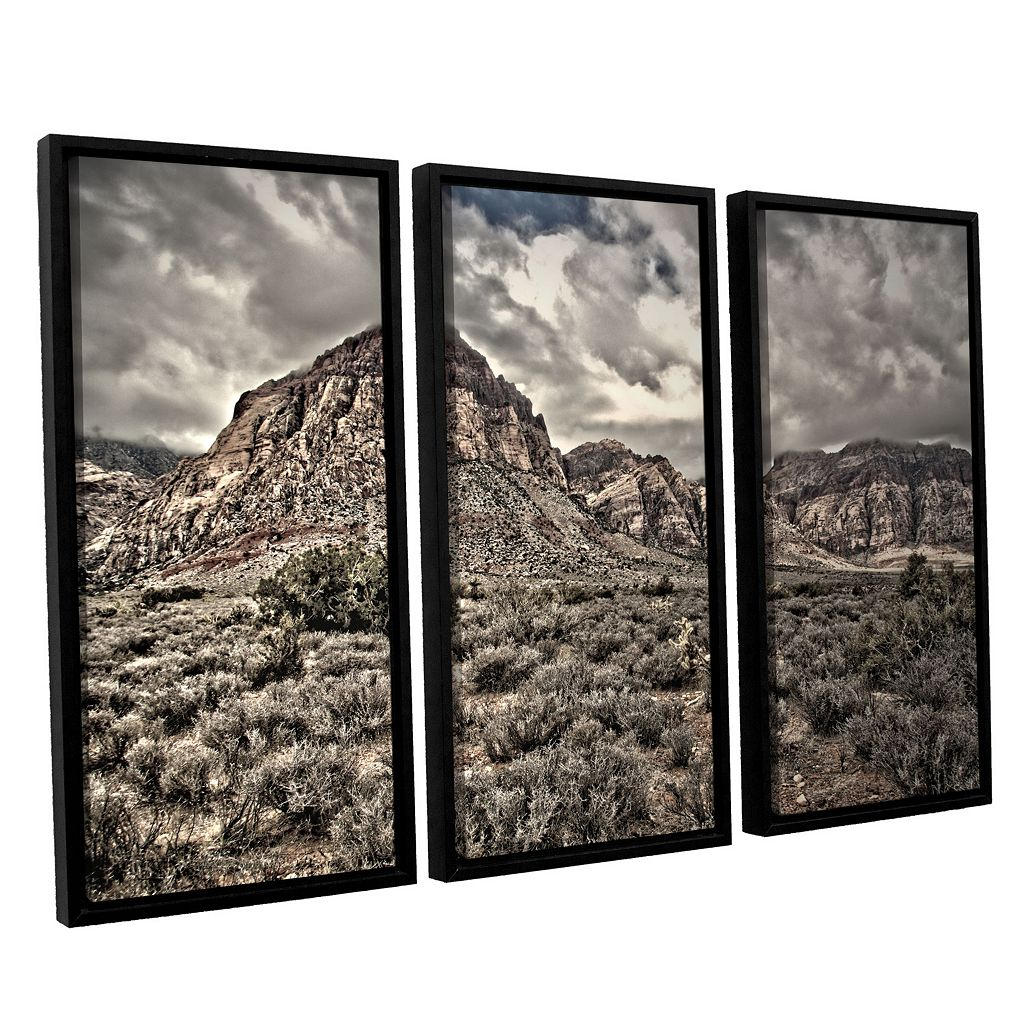 ArtWall ''No Distractions'' Vertical Framed Wall Art 3-piece Set